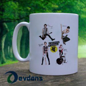 5 Second Of Summer Mug, Coffee Mug, Ceramic Mug, Coffee Mug