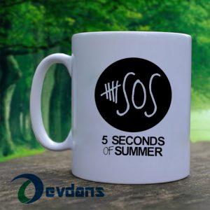 5 second of summer logo Mug, Coffee Mug, Ceramic Mug, Coffee Mug