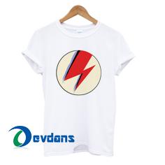 David Bowie iconic lightning bolt Tshirt men, women adult unisex size S to 3XL
