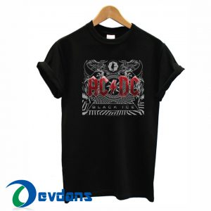 ACDC black in black logo Tshirt men, women adult unisex size S to 3XL