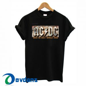 ACDC rock or bust logo T-shirt men, women adult unisex size S to 3XL