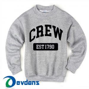 CREW est 1790 Sweatshirts size S,M,L,XL,2XL,3XL