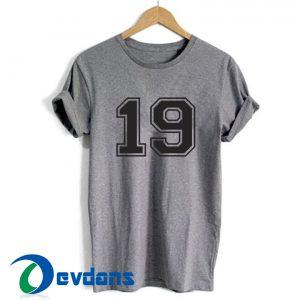 19 Jersey Font T Shirt