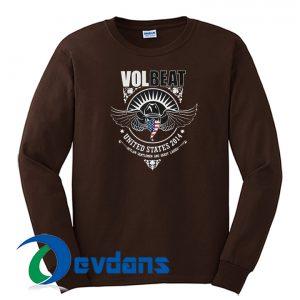 Volbeat Skull Wings US 2014 Sweatshirt