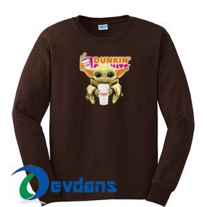 baby Yoda Dunkin Sweatshirt
